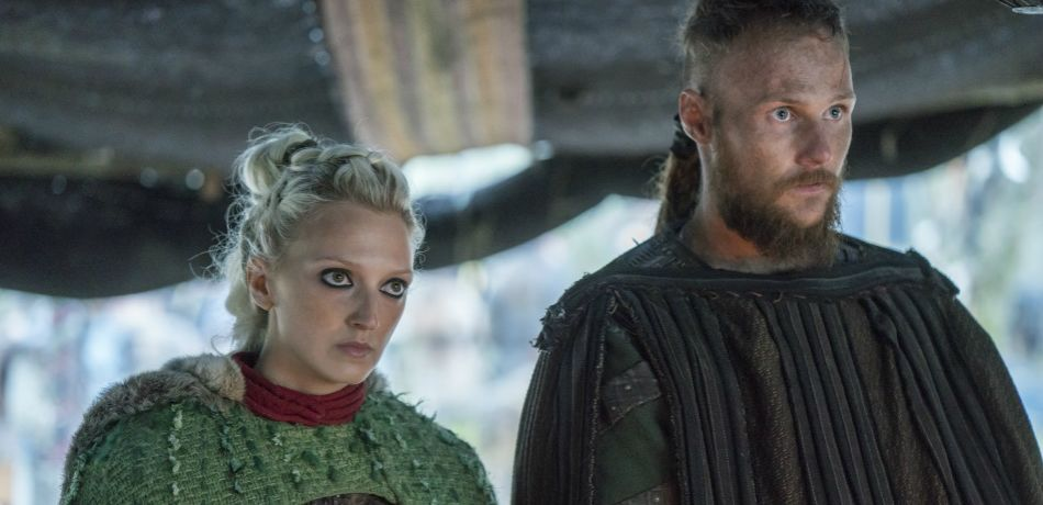 History channels vikings season 5 episode 19 torvi and ubbe as seen in episode 18 baldar