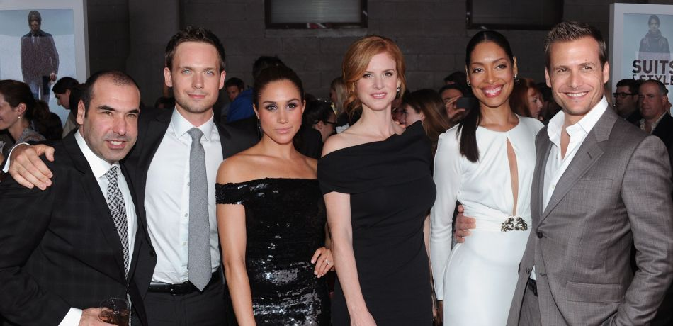 Meghan markle and her suits co stars