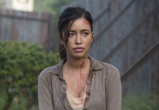 Rosita is bloody n the walking dead season 6 episode 2 320x223 1444930800
