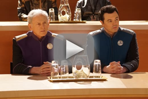 Admiral halsey and captain mercer the orville