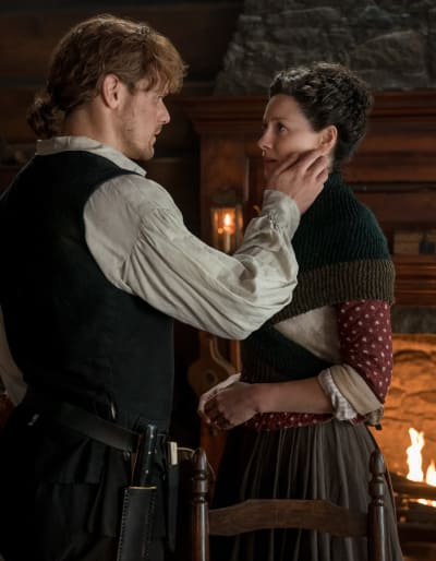 Another game of touchy face outlander s4e5