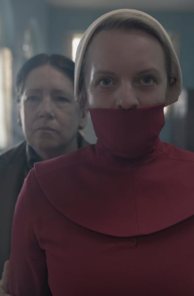 Aunt lydia leading june the handmaids tale