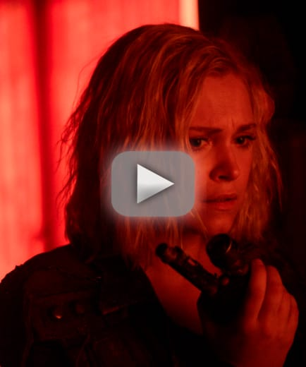 Clarke and her hallucinations the 100 s6e2
