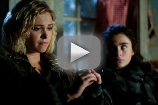 Clarke and madi in eden the 100