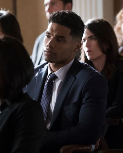 Gabriel looks on how to get away with murder season 5 episode 7