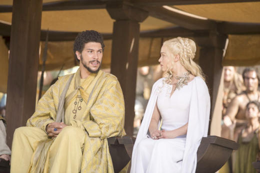 Hizdahr and dany at the pits game of thrones s5e9