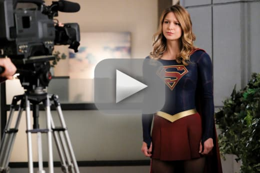 On a mission supergirl