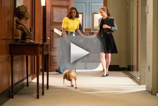 Taking care of the dog madam secretary