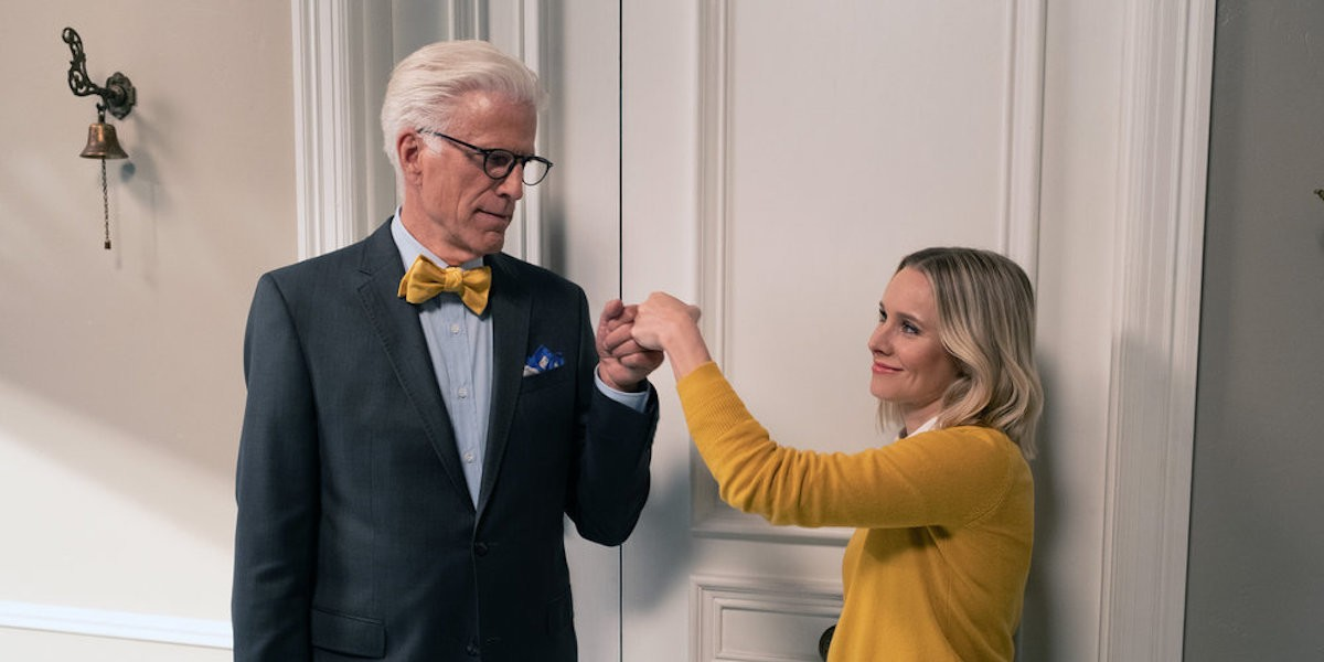 The good place 4x03 handshake
