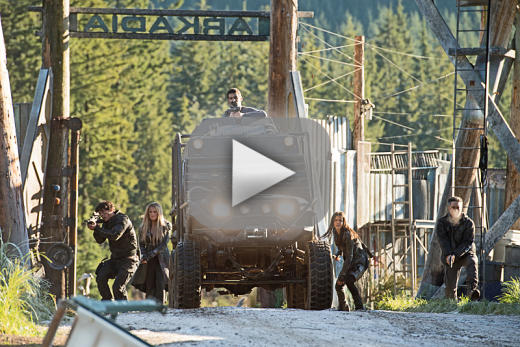 The group returns to arkadia the 100 season 3 episode 12