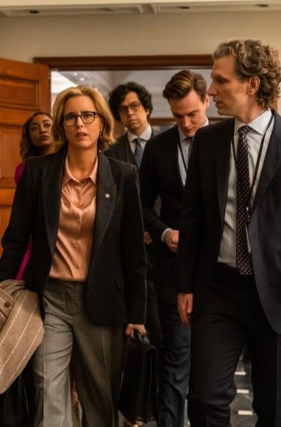 The staff walks in madam secretary s5e16
