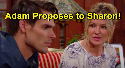The young and the restless spoilers adam proposes sharon yr