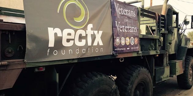 A 5 ton Army Truck Full of Supplies for Homeless Veterans