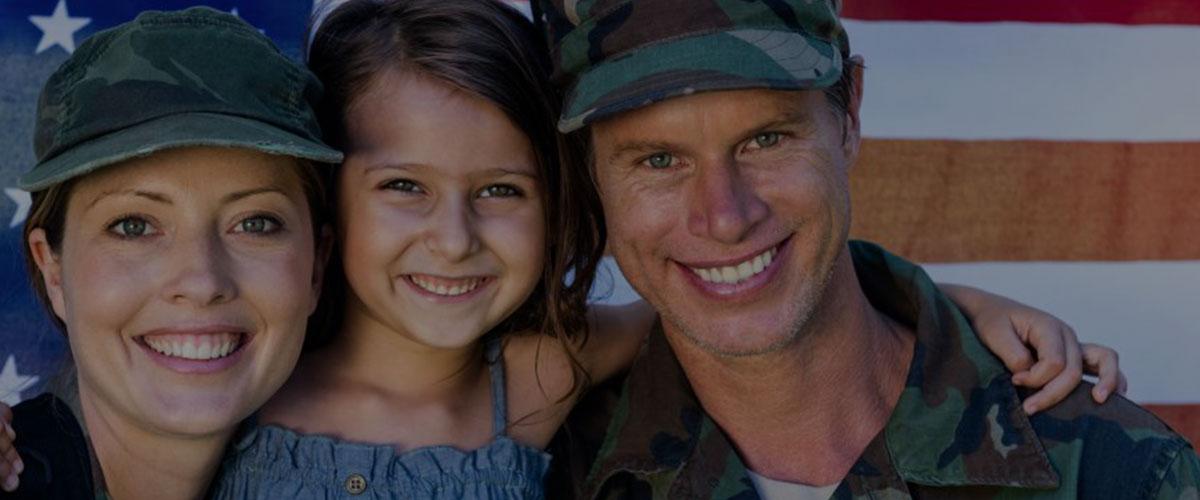 U. S. Military Family smiling
