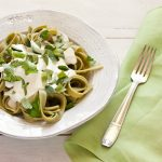 Low fat creamy Alfredo-style sauce, ready in five minutes! from Stephanie Weaver | Gluten-free, vegetarian, low-fat
