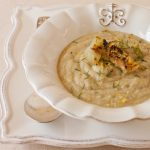 Roasted fennel kohlrabi soup