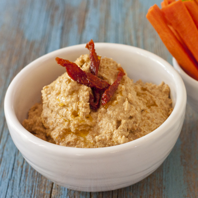 Smoky sun-dried tomato and sunflower seed dip