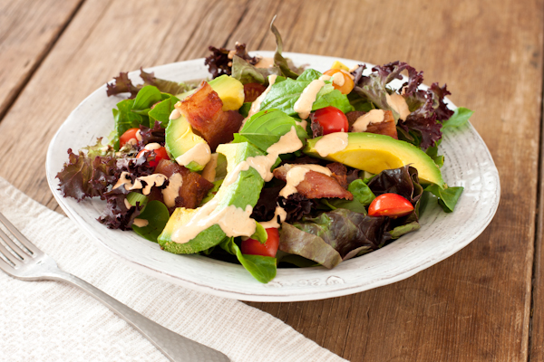 BLT Salad | Recipe Renovator | Low-sodium, gluten-free, migraine-friendly