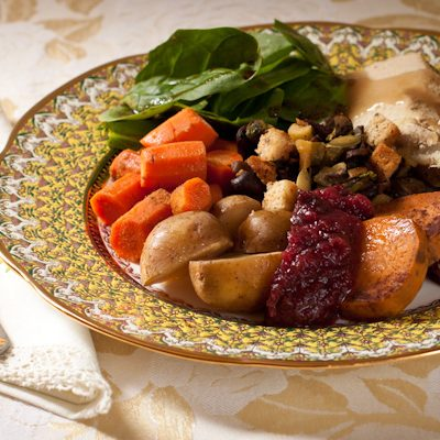 Low-sodium Turkey Dinner for two from Recipe Renovator