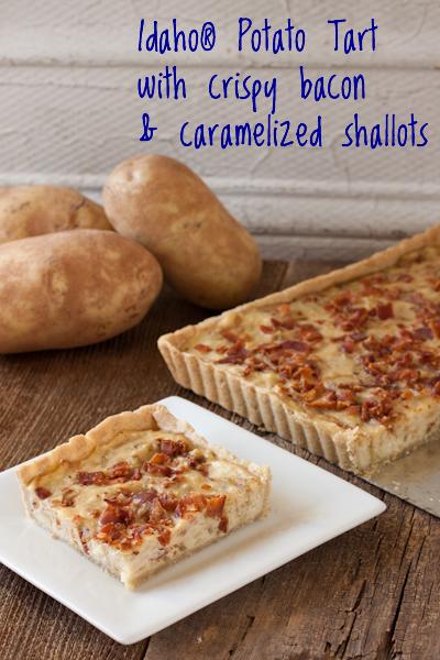 Idaho® Potato Tart with crispy bacon and caramelized shallots | Recipe Renovator