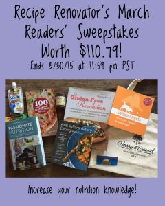 Win 4 nutrition books, tote bag, and more | Recipe Renovator | Ends 3/30/15 at 11:59 PM PDT
