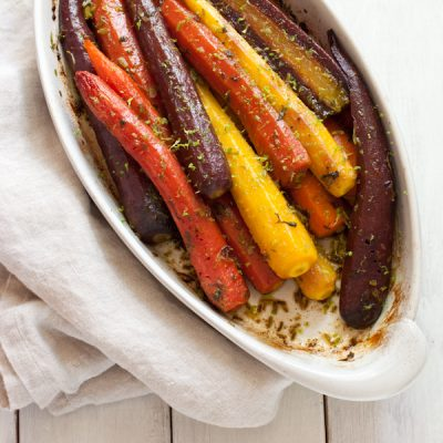 Roasted carrots with cilantro and lime