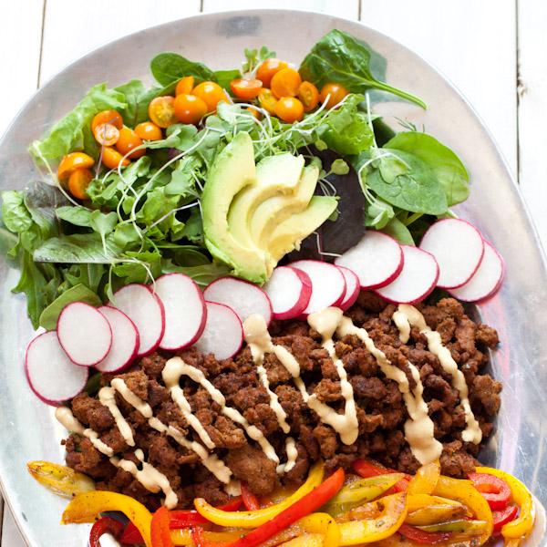 Paleo taco salad | Recipe Renovator | Gluten-free, low-sodium, dairy-free, nut-free