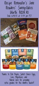 Recipe Renovator's June Readers' Sweepstakes | Ends 6/30/15 at 11:59 PM PDTstakes