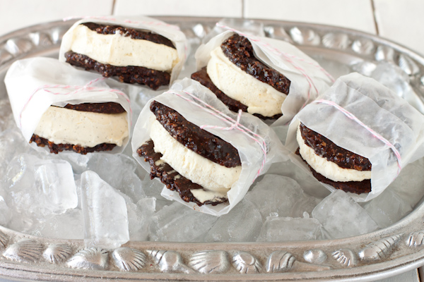 Vanilla-bean ice cream sandwiches | Grain-free, gluten-free, low sugar, low sodium | Recipe Renovator