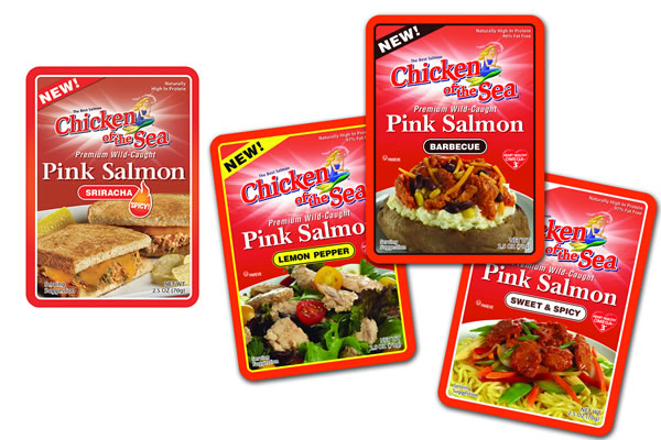 Chicken of the Sea flavored salmon pouches