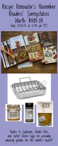 "November Readers' Sweepstakes on Recipe Renovator | Calphalon 16"" roasting pan plus 6 books and other goodies 