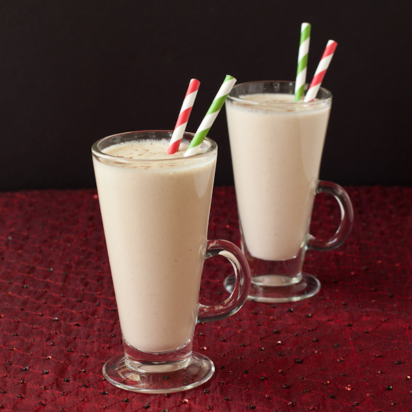 Eggnog smoothie using Davidson's Safest Choice eggs #safenog |Recipe Renovator | Gluten-free, low-sodium, paleo, sugar-free