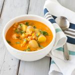 Langostino Chowder | Lobster chowder from Recipe Renovator. Gluten-free, soy-free, dairy-free. Delicious!