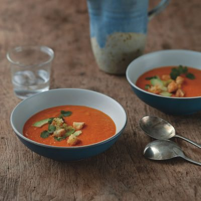 Golden Bell Pepper Soup from Eating Clean (c) LaurenVolo
