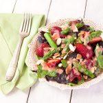 Asparagus-strawberry salad with strawberry-balsamic vinaigrette | from Stephanie The Recipe Renovator | vegan, dairy-free, grain-free, paleo, Whole30 compliant