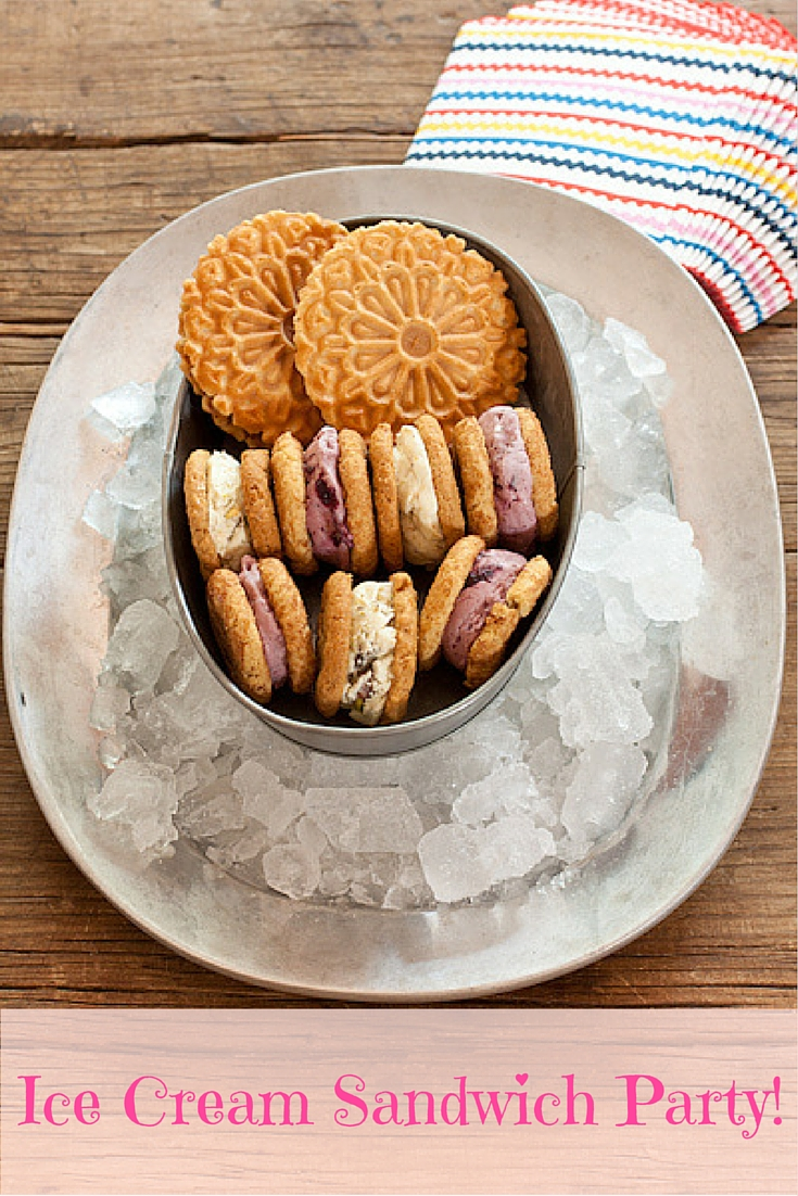 Ice Cream Sandwich Party on Recipe Renovator | How to prep for an ice cream party, make ice cream sandwiches, and have a blast in the summer heat