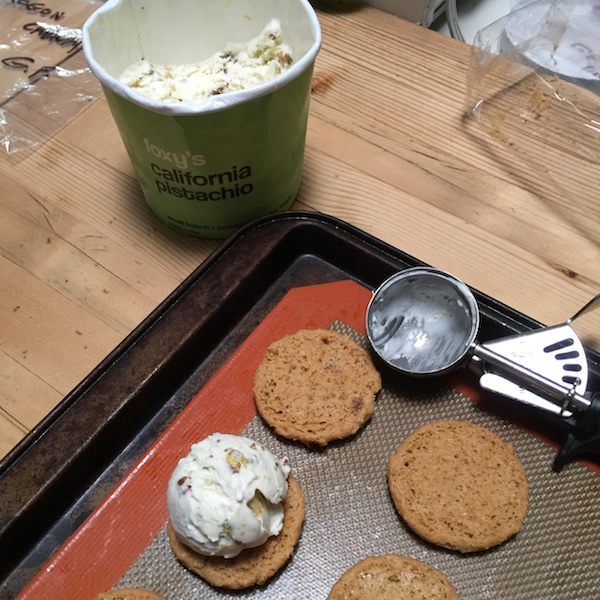 Making ice cream sandwiches on Recipe Renovator
