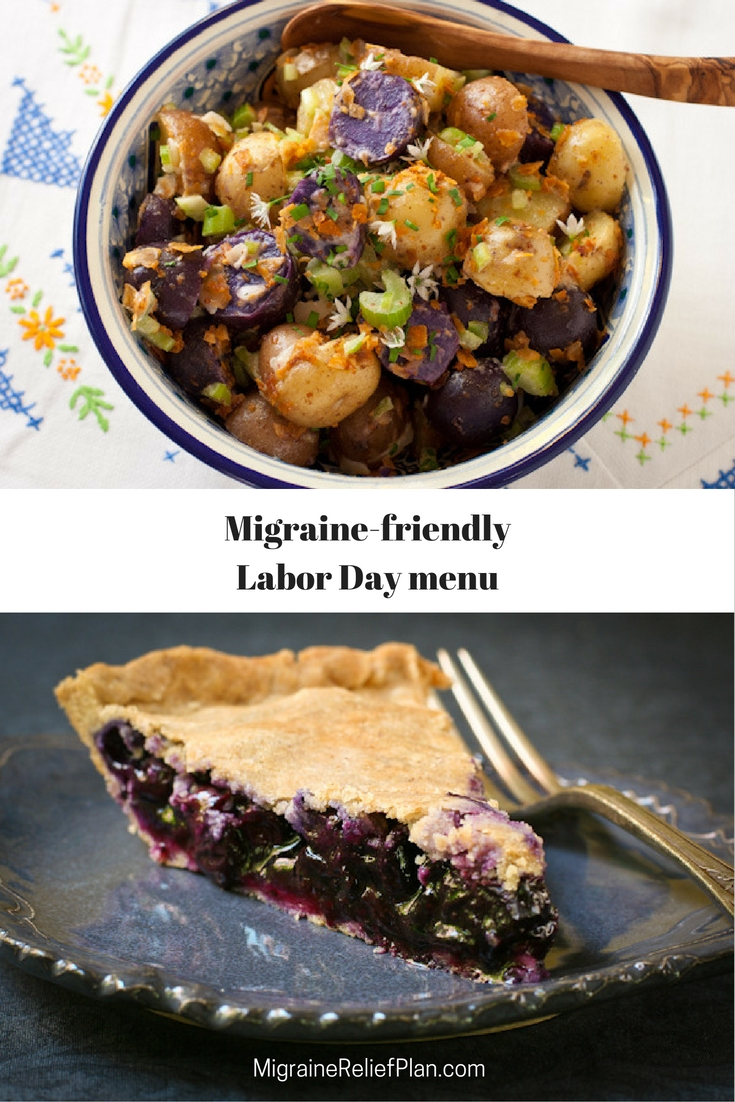 Migraine-friendly Labor Day menu. Enjoy your holiday! The Migraine Relief Plan is now available for pre-order.