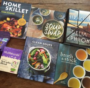September Readers' Sweepstakes on Recipe Renovator: 4 cookbooks, 1 bonus book, knife and cutting board, 2 soup ladles, knife sharpener, NuStevia products | Ends 10/05/16 at 11:59 PM PDT