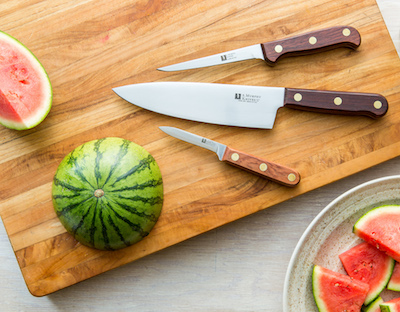 R. Murphy Knives 3-knife chef's set- high quality knives and kitchen equipment made in the USA