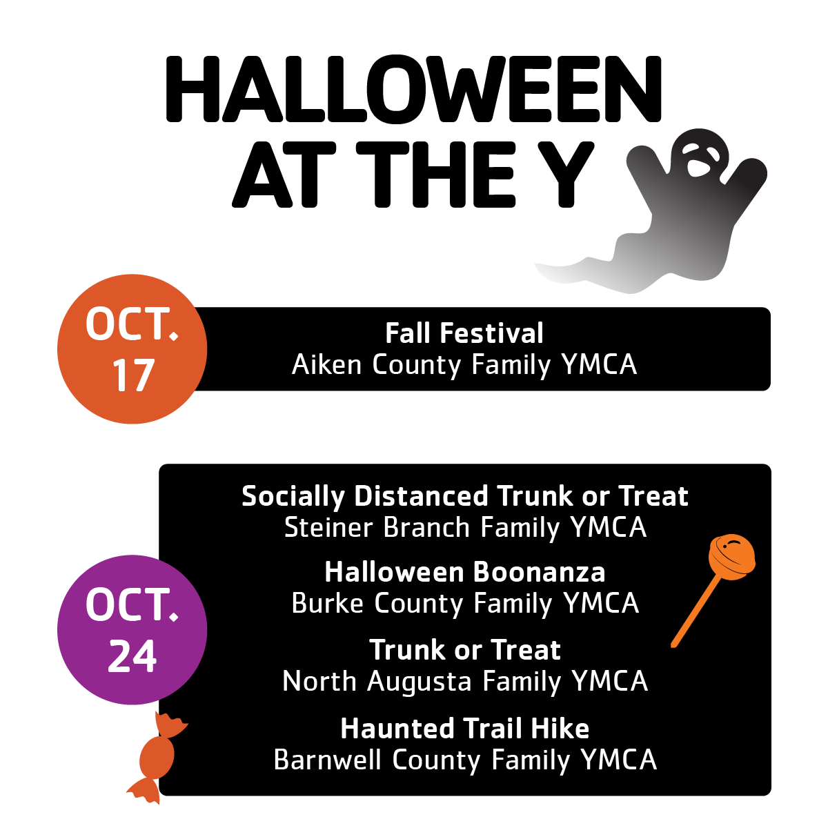 Halloween Events at the Y 1
