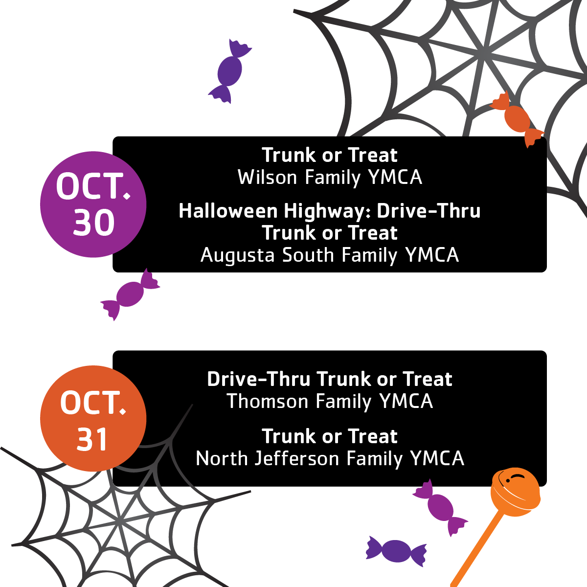 Halloween Events at the Y 2