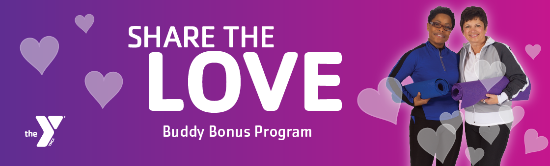Share The Love exercise with friends at YMCA gyms and wellness facilities