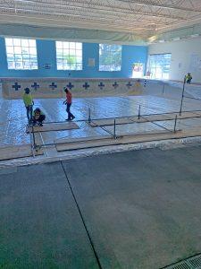 Wilson Family YMCA indoor pool maintenance aquatics center construction