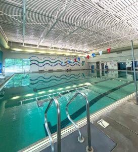 Indoor pool at the Wilson Family YMCA for lap lane swim aqua aerobics exercise classes
