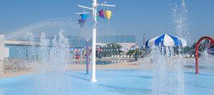 Spray ground at the Wilson Family YMCA water park splash pad