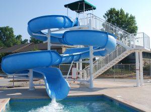 Wilson Family YMCA outdoor pool slide