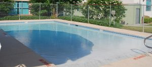 Outdoor baby pool for safe swimming for young children at Wilson Family YMCA