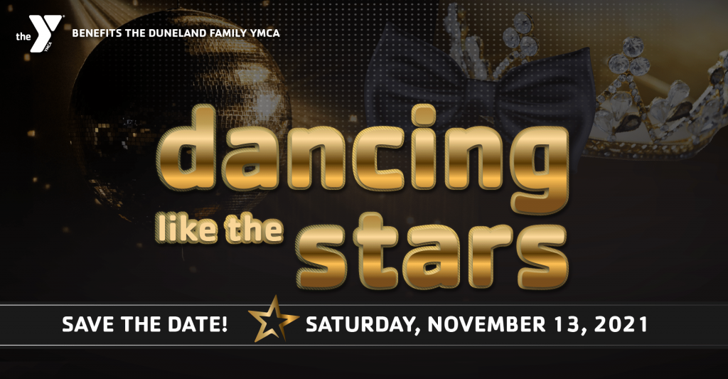 dancing like the stars advertisment with save the date