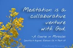 Meditation Course in Miracles